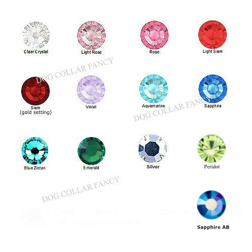 Large size crystal color choices.