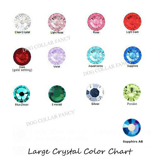 Large crystals color chart.