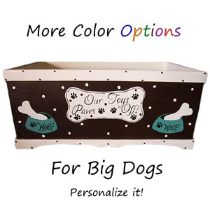 Big dog toy box for large dogs custom made personalized.