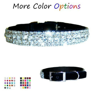 Bling Bling Crystal Pet Collar - For dogs and cats - dog-collar-fancy