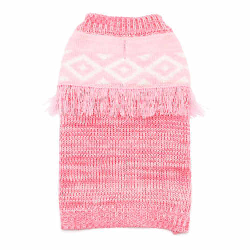 Pink Fringe Dog Sweater