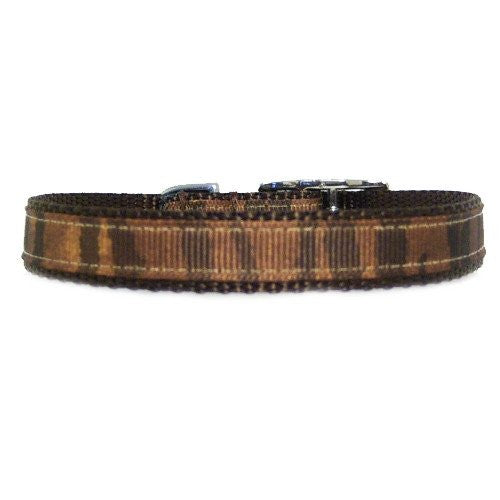 Brown animal printed pet collar to bring out the animal in your dog or cat.