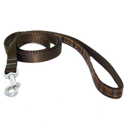 A brown animal prints decorative pet leash.