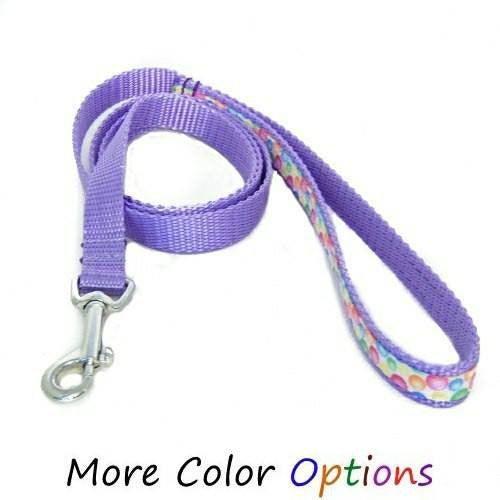 Bubblegum Print Pet Leash - 5/8 inch wide leash - dog-collar-fancy
