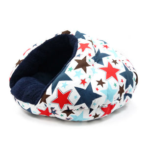 Patriotic Stars printed Dog Bed side view