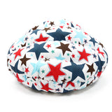 Patriotic Stars Dog Bed back and top view