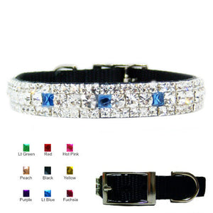Crystal Treasures Custom Pet Collar - For dogs and cats - dog-collar-fancy