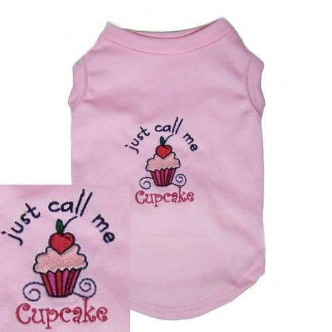 Just call me cupcake. A cute dog shirt for girl dogs.