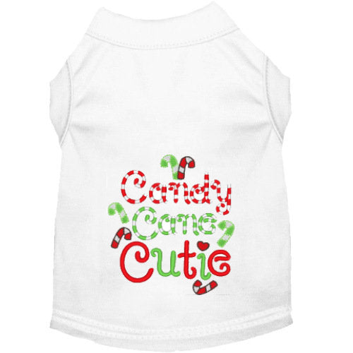Christmas Dog Shirt - Candy Cane Cutie - Small to Large Dogs - dog-collar-fancy