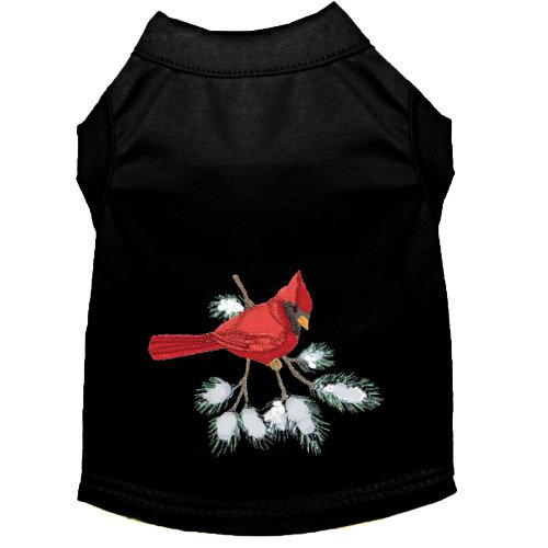 A beautiful cardinal embroidered dog shirt for small to large dogs
