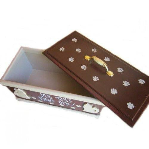 Personalized Cat Toy Box with Lid - dog-collar-fancy