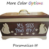 Personalized Cat Toy Box with Lid - For Cats - dog-collar-fancy