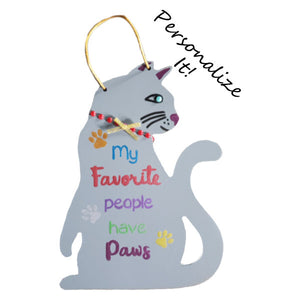 Personalized cat plaque hand painted