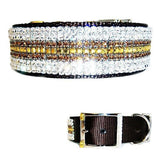 Chocolate Elite Crystal Dog Collar - For medium to large dogs - dog-collar-fancy