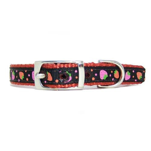 Chocolate Strawberries Pet Collar - For dogs and cats - dog-collar-fancy