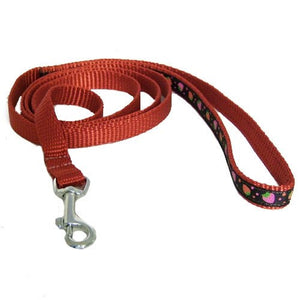 Chocolate Strawberries Pet Leash - 5/8 inch wide leash - dog-collar-fancy