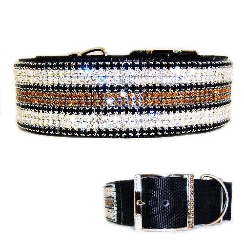 x large fancy dog collar with bling 2 inch wide