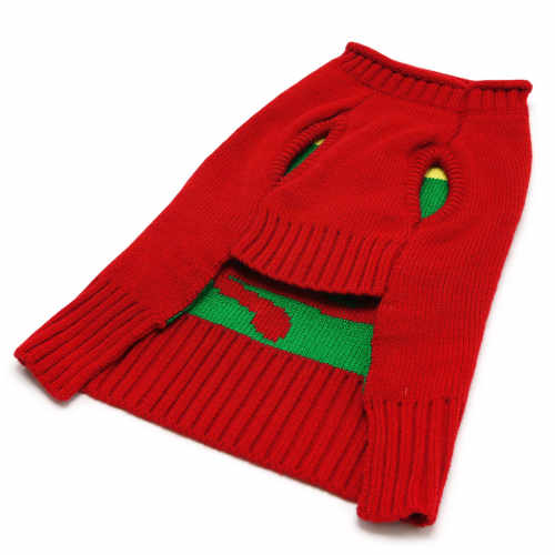 Oh Christmas Tree Dog Sweater underside view