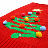 Oh Christmas Tree Dog Sweater close up