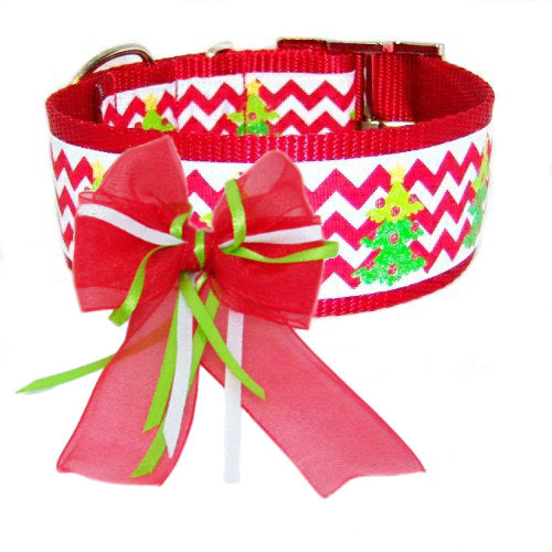 Christmas Party Dog Bow as dog collar accessory
