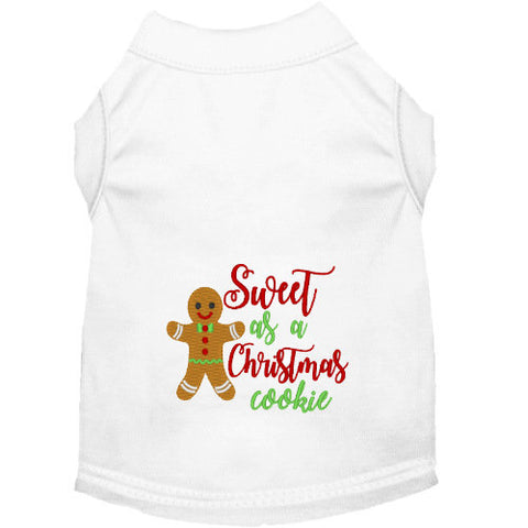 Christmas Dog Shirt - Sweet Cookie - Small to Large Dogs - dog-collar-fancy