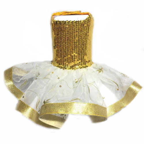 Sequin Gold Dog Dress - Tiny to large dogs - dog-collar-fancy