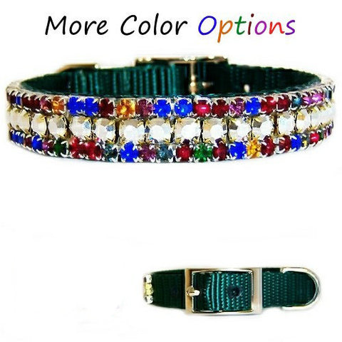 Christmas Magic Jeweled Pet Collar - For dogs and cats - dog-collar-fancy