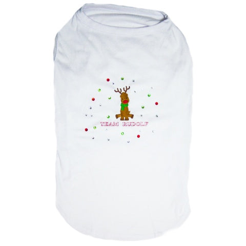 Team Rudolf Rhinestone Dog Shirt