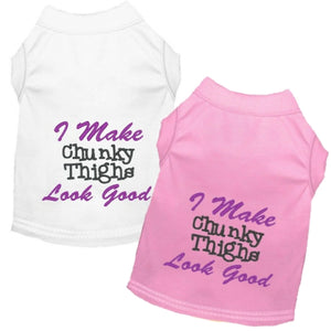 Chunky Thighs Dog Shirt - Small to Large Dogs - dog-collar-fancy