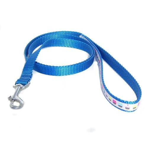 Colorful Cupcakes Pet Leash - 5/8 inch wide leash - dog-collar-fancy