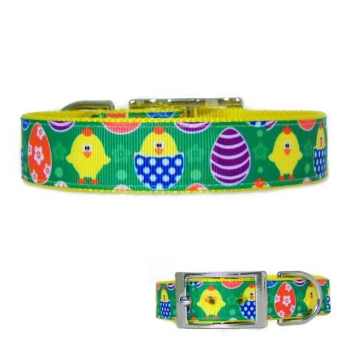Easter Eggs and Chicks Collar - For dogs and cats - dog-collar-fancy