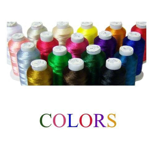 Embroidery thread colors for personalized dog collars