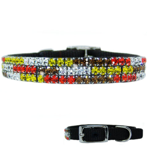 Colors of Autumn Crystal Pet Collar