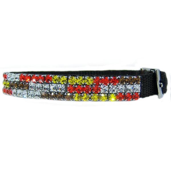 Colors of Autumn Crystal Pet Collar - For dogs and cats - dog-collar-fancy