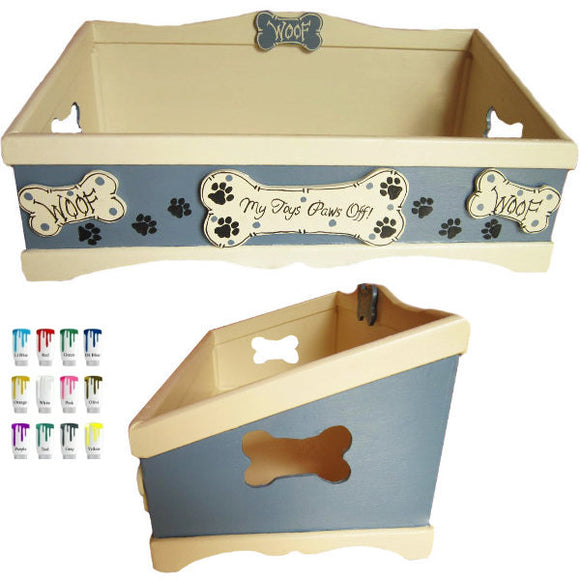 Convenience dog toy box for small dogs