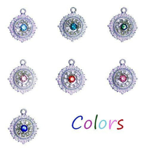 Beautiful sparkly crystal pet charms in your choice of colors.