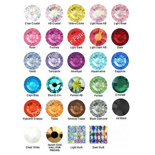 crystal color chart