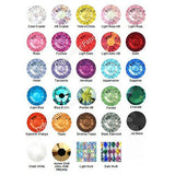 2 Inch Wide Custom Crystal Dog Collar crystal color chart