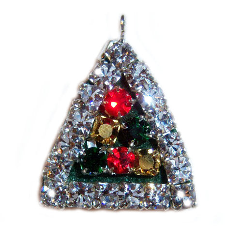 2 sided Christmas Tree Charm - pet charm - dog-collar-fancy