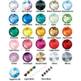 Crystal Treasures Pet Collar crystal color chart
