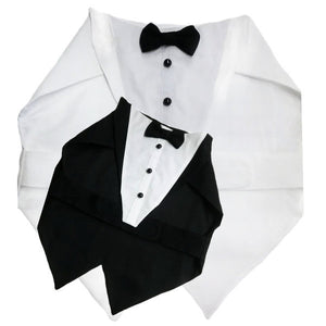 Custom made dog tuxedo