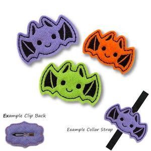 Cute Halloween Bat dog hair clip or collar strap accessory.