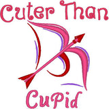 Cuter Than Cupid Dog Shirt embroidery