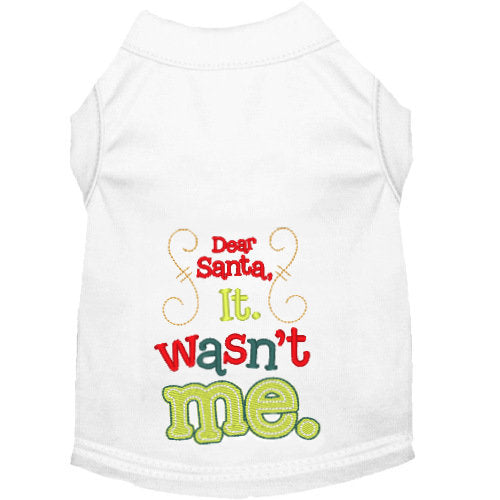 Christmas Dog Shirt - Dear Santa it wasn't me