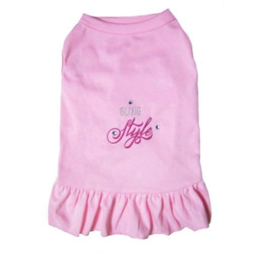 Bling style pink dog dress.