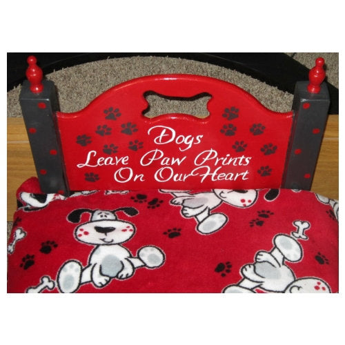 Dog Kisses Dog Bed headboard with cute saying