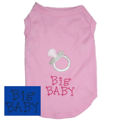 Big Baby dog shirt with pacifier for girl or boy dogs.