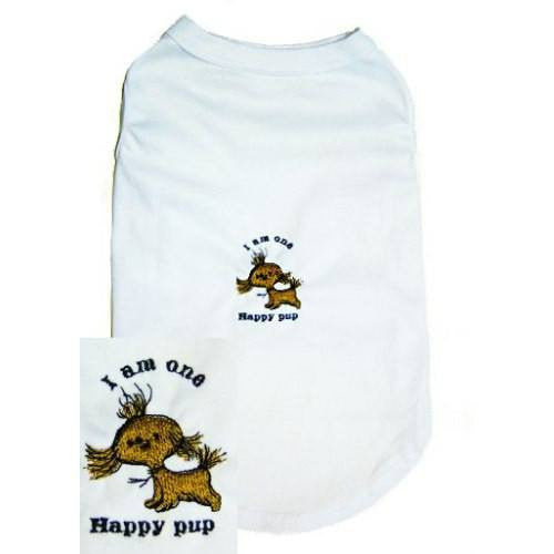 A cute dog t shirt for wagging tails happy dogs.