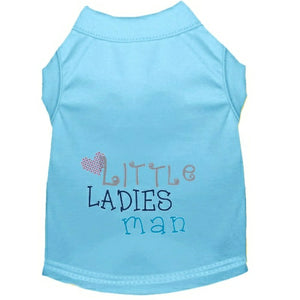 Boy dog tee shirt Little Ladies Man dog shirt in blue.