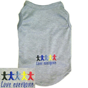 Dog Shirt Love Everyone - Small to Large Dogs - dog-collar-fancy